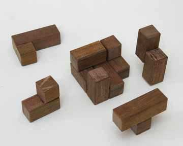 3x3x3 wooden cube puzzle solution.