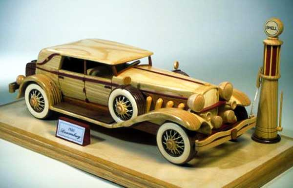 1930 Duesenberg wooden toy car woodworking plans