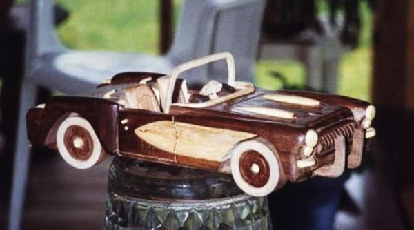 Classic Sports Car Model woodworking plan