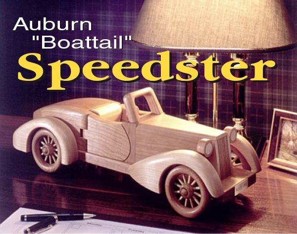 Wooden Toy Model Car Woodworking Project Plans