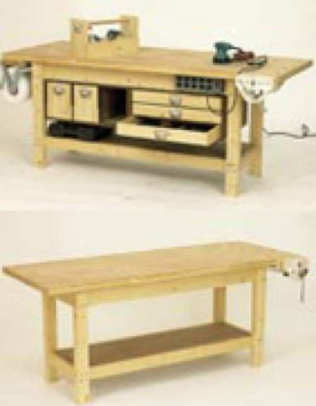 Woodshop Workbench Plans Building