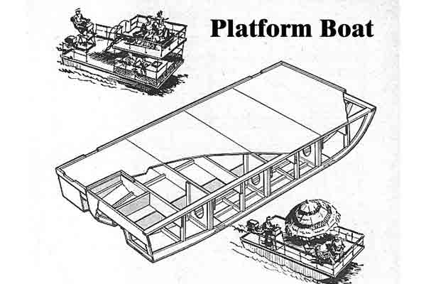 Free house boat plans for Popular Mechanic's 16' Platform Boat ...
