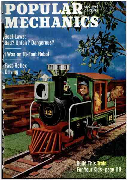 How to build a backyard riding train, an article in Popular Mechanics ...