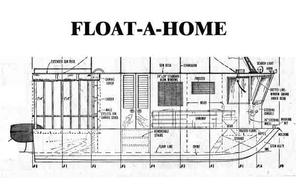 House boat plans is my next woodworking project for Floating home floor plans