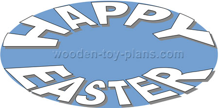 scroll saw happy easter