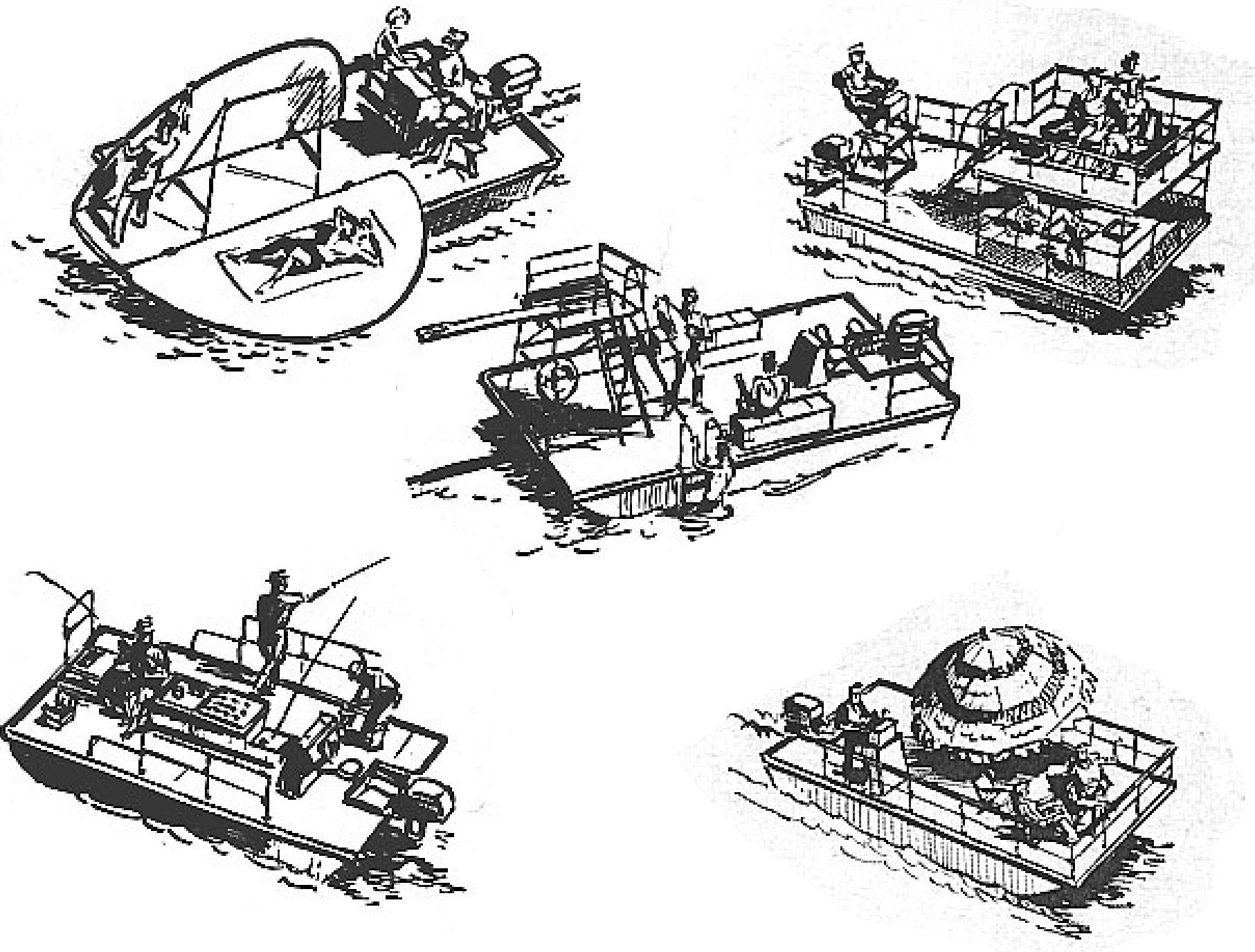 Free houseboat plans Popular Mechanics Platform Boat