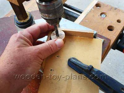 Drill the hole for the axle
