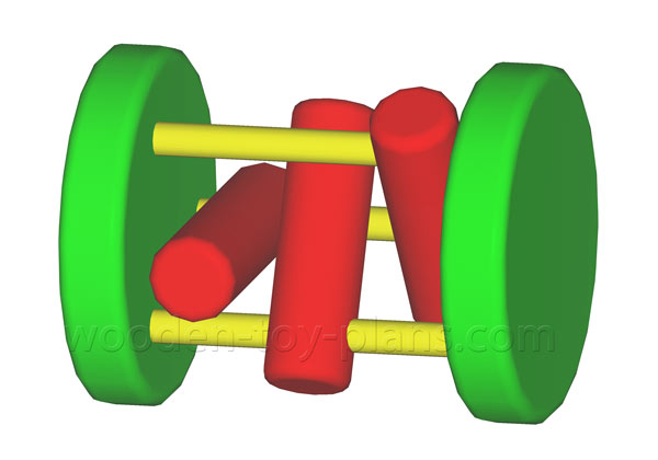 wooden toy plans free instant download Traditional rolling toy.