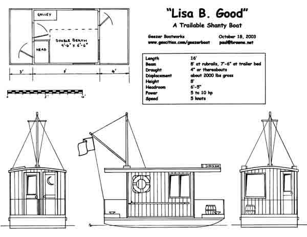 house boat plans lisa b good