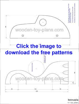 Free full size toy car template patterns batmobile