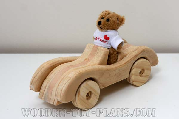 Wooden Toy Car Plans fun project free design