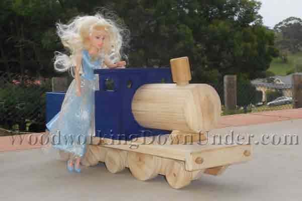 Easy to build wooden toy train for beginners with limited tools ...