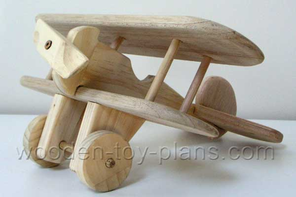 Free plans to build a wooden toy airplane.