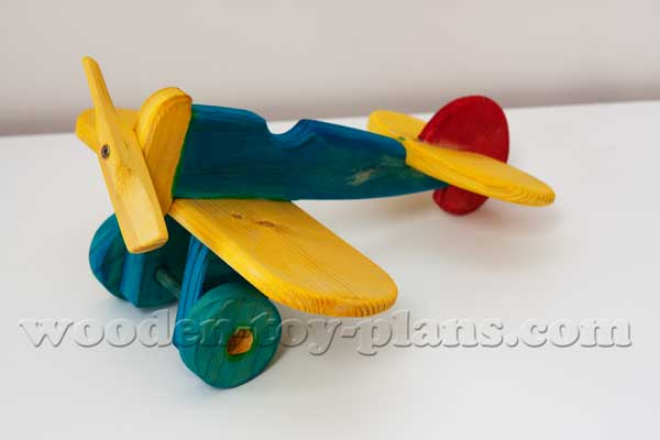 Wooden Toy Airplane free plan PDF download